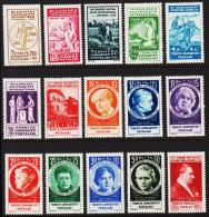 1935. XIIme CONGRES SUFFRAGISTE INTERNATIONAL ISTANBUL 1935. Complete Set With 15 Stamps.  (Michel: 985-999) - JF193728 - 1921-... République