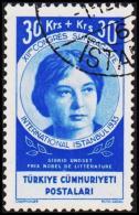 1935. XIIme CONGRES SUFFRAGISTE INTERNATIONAL ISTANBUL 1935. 30 + 30 Ks. Sigrid Undset.  (Michel: 997) - JF193706 - 1921-... République