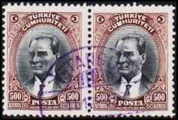 1930. MUSTAFA KEMAL PASCHA. 500 KURSUS. 2 EX.  (Michel: 912) - JF193793 - 1921-... République