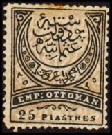 1886. EMP OTTOMAN 25 PIASTRES.  (Michel: 50) - JF193745 - 1921-... République
