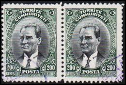 1930. MUSTAFA KEMAL PASCHA. 200 KURSUS. 2 EX.  (Michel: 911) - JF193780 - 1921-... République