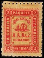 1869. J.A.J.Z. (J A JESURUN & ZOON. LA GUIRA  Pto CABELLO SAN TOMAS . PAQUETE DOS REALE... (Michel: FACIT LG 22) - JF193 - Danish West Indies