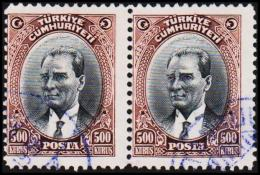 1930. MUSTAFA KEMAL PASCHA. 500 KURSUS. 2 EX.  (Michel: 912) - JF193800 - 1921-... République