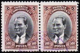 1930. MUSTAFA KEMAL PASCHA. 500 KURSUS. 2 EX.  (Michel: 912) - JF193786 - 1921-... République