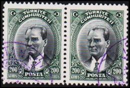 1930. MUSTAFA KEMAL PASCHA. 200 KURSUS. 2 EX.  (Michel: 911) - JF193802 - 1921-... République