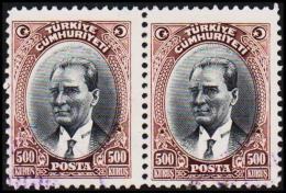 1930. MUSTAFA KEMAL PASCHA. 500 KURSUS. 2 EX.  (Michel: 912) - JF193799 - 1921-... République