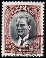 1930. MUSTAFA KEMAL PASCHA. 500 KURSUS.  (Michel: 912) - JF193789 - 1921-... République