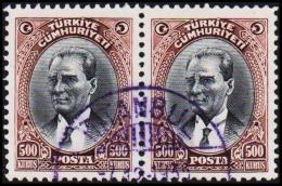 1930. MUSTAFA KEMAL PASCHA. 500 KURSUS. 2 EX.  (Michel: 912) - JF193795 - 1921-... République