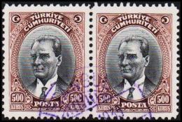 1930. MUSTAFA KEMAL PASCHA. 500 KURSUS. 2 EX.  (Michel: 912) - JF193794 - 1921-... République