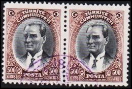 1930. MUSTAFA KEMAL PASCHA. 500 KURSUS. 2 EX.  (Michel: 912) - JF193801 - 1921-... République