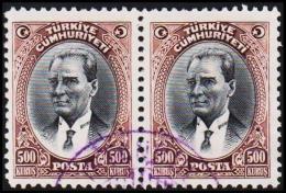 1930. MUSTAFA KEMAL PASCHA. 500 KURSUS. 2 EX.  (Michel: 912) - JF193797 - 1921-... République
