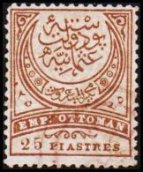 1886. EMP OTTOMAN 25 PIASTRES.  (Michel: 54) - JF193746 - 1921-... République