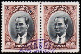 1930. MUSTAFA KEMAL PASCHA. 500 KURSUS. 2 EX.  (Michel: 912) - JF193796 - 1921-... République