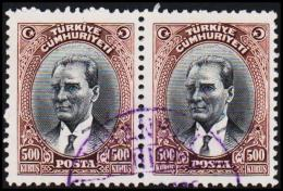 1930. MUSTAFA KEMAL PASCHA. 500 KURSUS. 2 EX.  (Michel: 912) - JF193798 - 1921-... République
