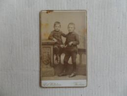 ANCIENNE  PHOTO  SUR CARTON  / PORTRAIT D' ENFANTS   /  ED. WETTSTEIN  VERVIERS - Photos