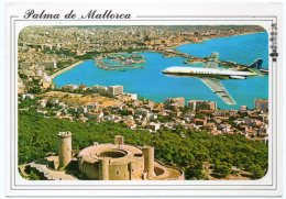 SPAIN -PALMA DE MALLORCA - AERIAL VIEW - AIRPLANE CARAVELLE SABENA / BELGIAN AIRLINES / AVION - 1946-....: Era Moderna