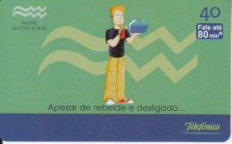 BRAZIL(Telefonica) - Zodiac/Aquarius, 02/03, Used - Zodiaco