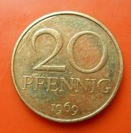 Germany 20 Pfennig 1969 - [ 6] 1949-1990 : GDR - German Dem. Rep.