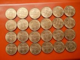 Portugal Lot Of 24 Coins Of 1 Escudo 1979 UNC - Kilowaar - Munten