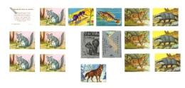 ANIMALES DE TODO EL MUNDO - 1 Sobre Y Lote De 14 Cromos Repetidos -  Editorial Fher. 1967 - Sin Pegar - - Otros