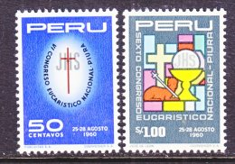 PERU  479-80   **   EUCHARIST   RELIGION - Peru