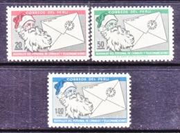 PERU  494-6   **      CHRISTMAS  SANTA - Peru