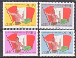 PERU  513-16  **    FLAGS   MAP   OIL - Peru