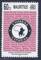 Mauritius, Scott #817 Used Comesa, 1995 - Mauritius (1968-...)