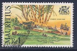 Mauritius, Scott #864 Used Dutch Landing Anniv., 1998 - Mauritius (1968-...)
