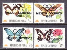 BIAFRA  32-5    **    OLYMPICS  FAUNA  BUTTERFLIES  FLOWERS - Summer 1968: Mexico City