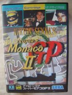 Sega Mega Drive Cartridge Japanese : Ayrton Senna Super Monaco GP 2 - Sega