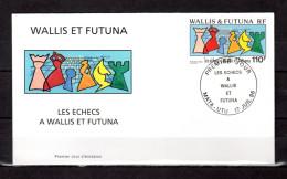 "WALLIS ET FUTUNA 1996 : Enveloppe 1er Jour "" LES ECHECS A WALLIS  / MATA - UTU Le 17-07-1996 "" N° YT 492. Parf état. FDC - Echecs"
