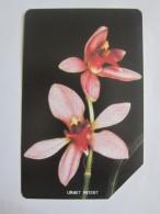 Urmet Phonecard,SRL-17 Orchids,used - Sierra Leone