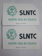 Urmet Phonecard,SRL-02,03 The First Issued SLNTC Logo,two Cards,used