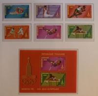 Olympische Spelen 1980 , Togo - Blok + Zegels Postfris - Estate 1980: Mosca