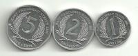 Eastern Caribbean Lot 1/2/5 Cent AUNC - Caribe Oriental (Estados Del)