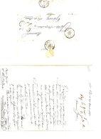 C097 - St PAIR à GOUY Par PAVILLY & ROUEN - 24 AVRIL 1852 - GRIFFE LINEAIRE 25 - 1801-1848: Precursori XIX