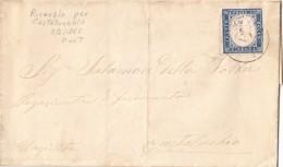 RIVAROLO PER CASTELLUCCHIO Mantova 1862 - FRANCOBOLLO DI SARDEGNA CENT. 20 TRE OTTIMI MARGINI -  SX295 - Marcophilie