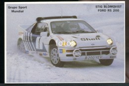 POCKET CALENDAR CALENDRIER VOITURE RALLYE CAR RALLY 1986 FORD RS 200 STIG BLOMQVIST - Calendriers