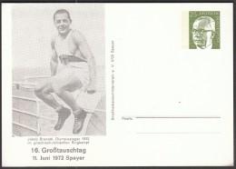 Germany Speyer 1972 / Jakob Brendel, Olympic Games Los Angeles 1932 Wrestling Winner