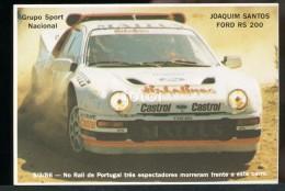 POCKET CALENDAR CALENDRIER VOITURE RALLYE CAR RALLY 1986 FORD RS 200 JOAQUIM SANTOS PORTUGAL - Calendriers