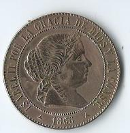 5 Centimos 1866 Barcelona ISABEL II - Monnaies Provinciales