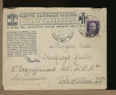 ITALIA - POSTA MILITARE  PM  -  WWII -  PARTITO NAZIONALE FASCISTA  -  N° 46  -  Con Lettera Autografa - 1900-44 Vittorio Emanuele III