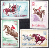 ROMANIA, 1964, Horse Show Events, MNH (**), LPMP/Sc. 583/1631-1634 - 1948-.... Republics