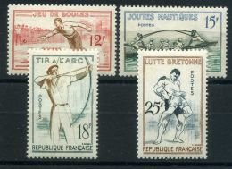 FRANCE  ( POSTE ) : Y&T N°  1161/64  TIMBRES  NEUFS  SANS  TRACE  DE  CHARNIERE , A VOIR . - France