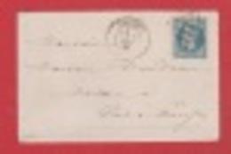 Enveloppe / De Antibes / Pour Pont A Mousson / 2 Mai 1870 - Postmark Collection (Covers)