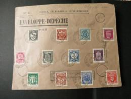 ENVELOPPE DEPECHE Ref J20002-39 Timbrée Et Affranchie 1942 - France
