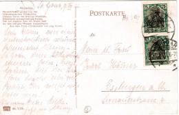 Dt. Reich 104 MEF Portogenau Auf Ansichts- Postkarte Von St. Goar 1922 - Covers & Documents