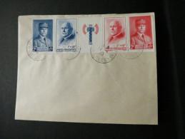 BANDE PETAIN 571A Sur Enveloppe Affranchie 1943 - France