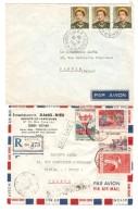 Vietnam 4 Commercial Air Mail Covers Saigon 1951-53-61 To France Pantin PR3075 - Viêt-Nam